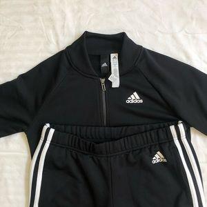 adidas Jackets & Coats - BLACK ADIDAS TRACK SUIT